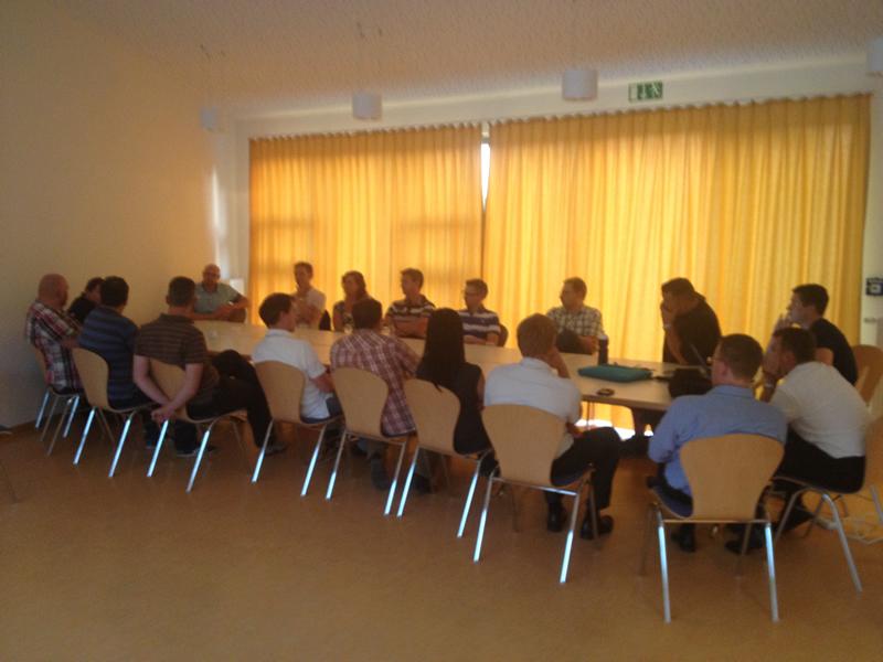 Vereinssitzung vom 08. August 2013