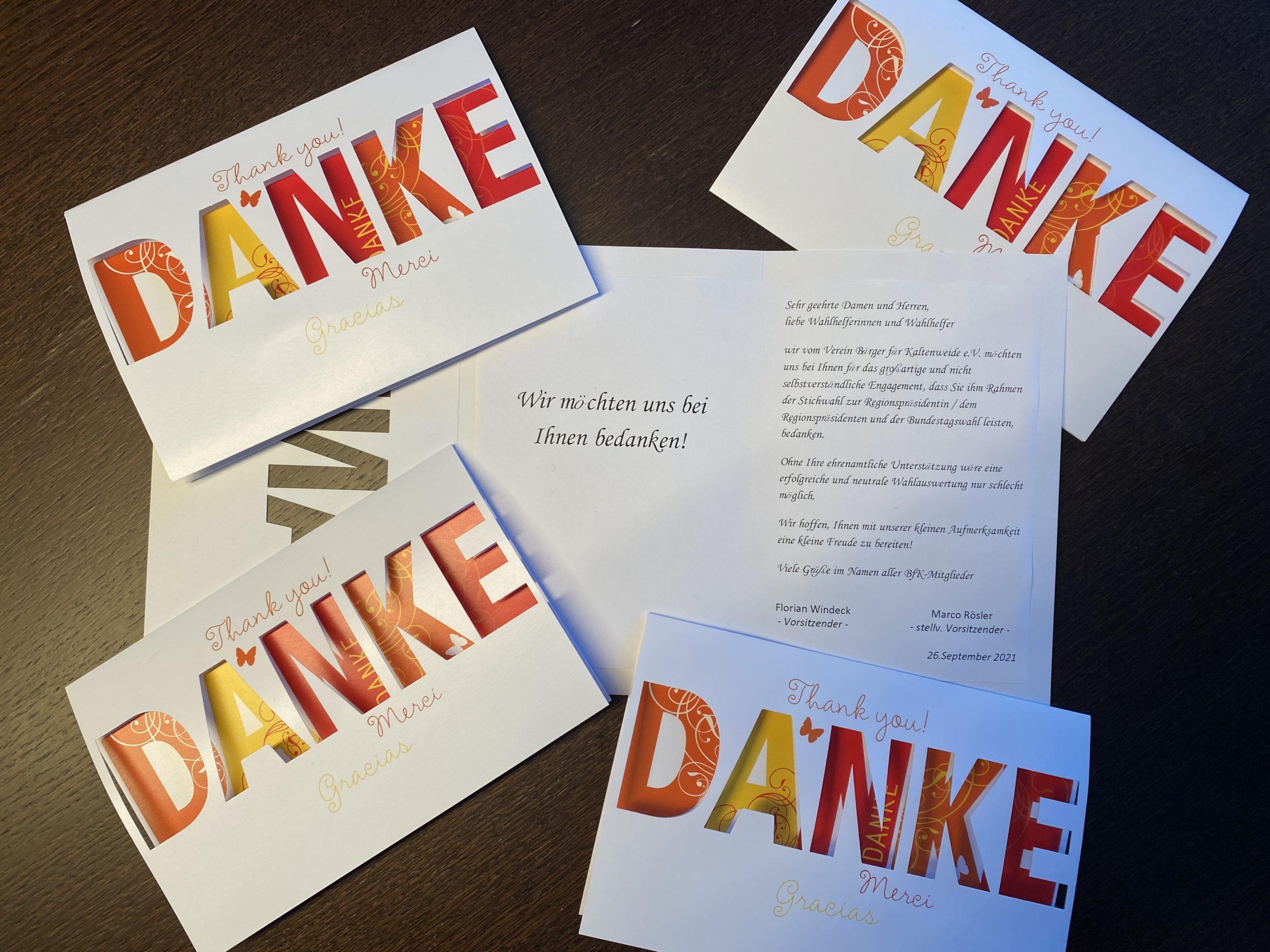 Dankeschön für Kaltenweider Wahlhelferinnen und Wahlhelfer